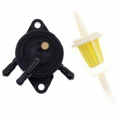 Lawn Mower Engine Gas Fuel Pump Filter For Kohler Briggs Str